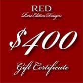 $400 gift certificate