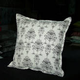 medium cushion - vintage bling - sepia on natural