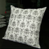 large cushion - vintage bling - sepia on natural