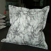 large cushion - wild wisteria - 2 tone grey on grey